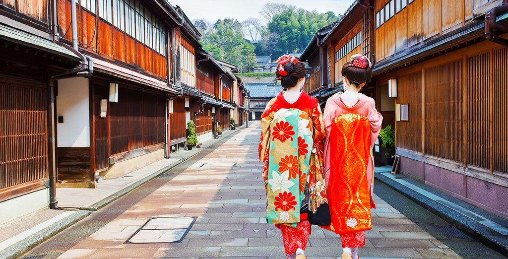 In Kanazawa ontdekt u de eeuwenoude cultuur