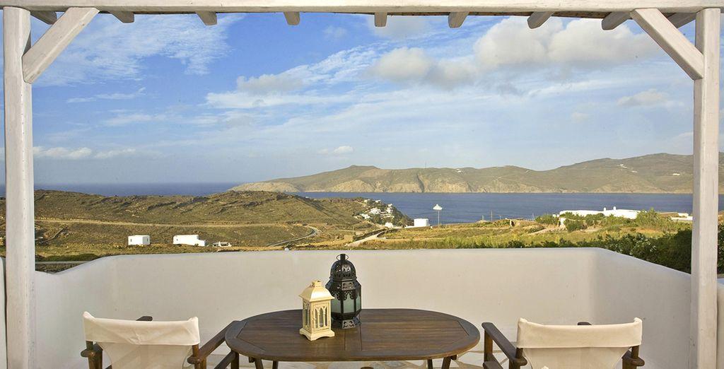 Geniet van de uitzichten vanuit uw terras