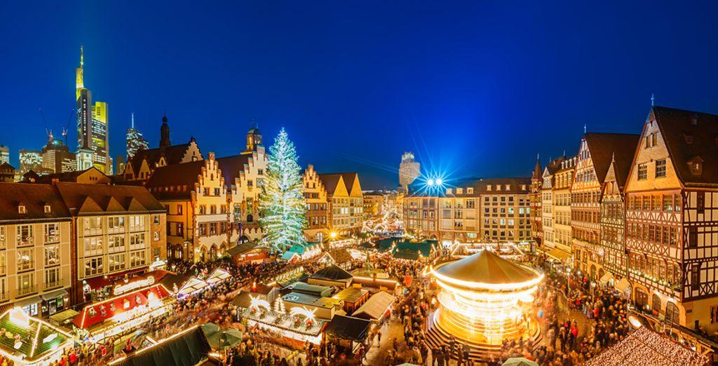 De kerstmarkt van Frankfurt is één van de mooiste van het land
