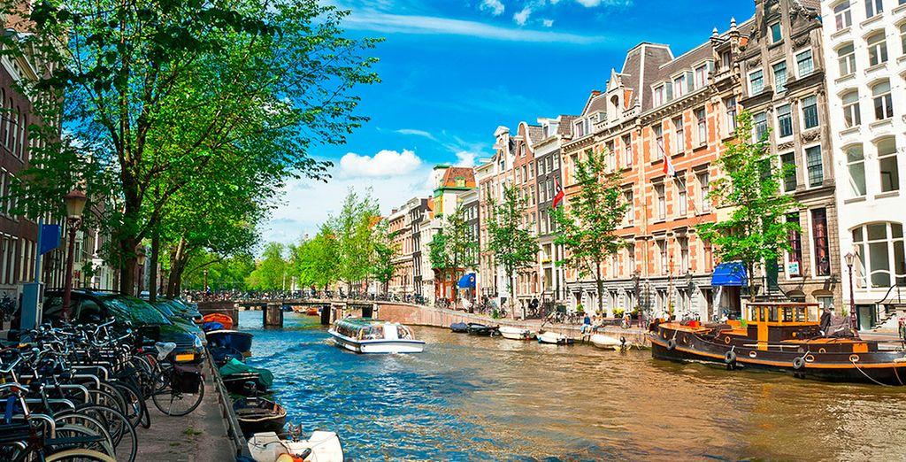 In het hart van Amsterdam