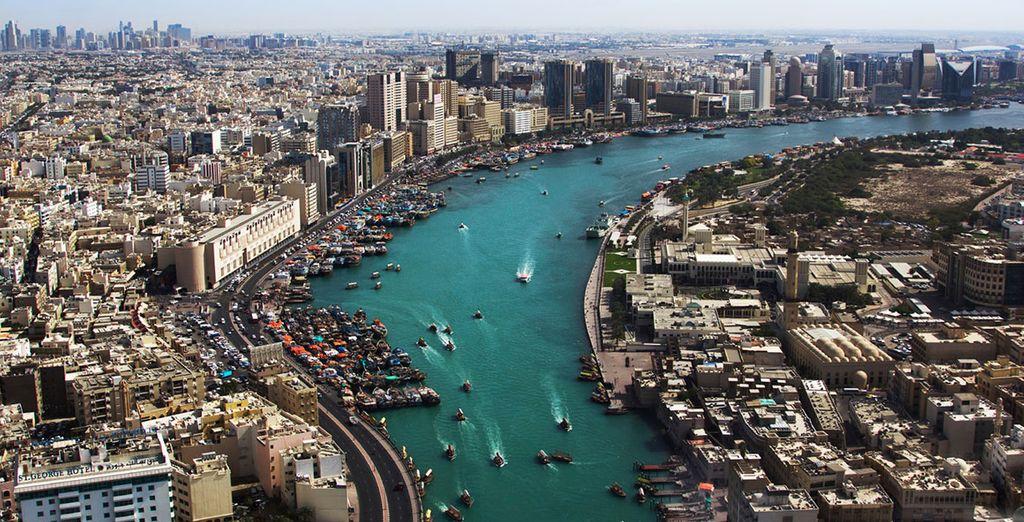 U heeft een prachtig uitzicht op Dubai's Creek