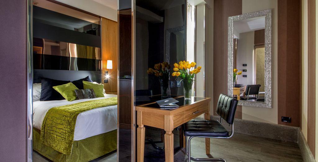 Alle kamers zijn modern en comfortabel ingericht