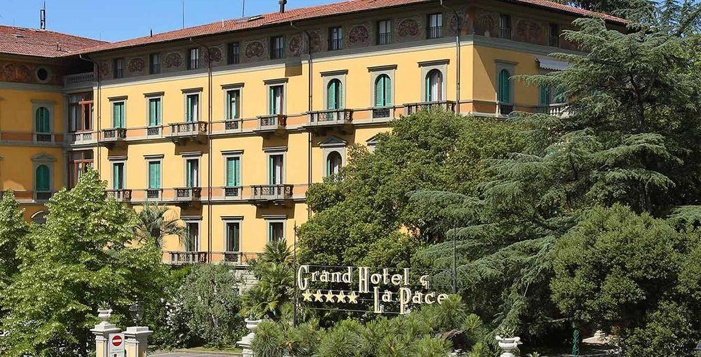 Naar het 5* Grand Hotel La Pace