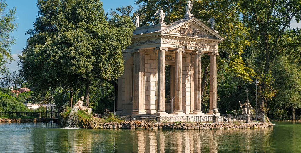 Op een paar minuten lopen van de tuinen van Villa Borghese
