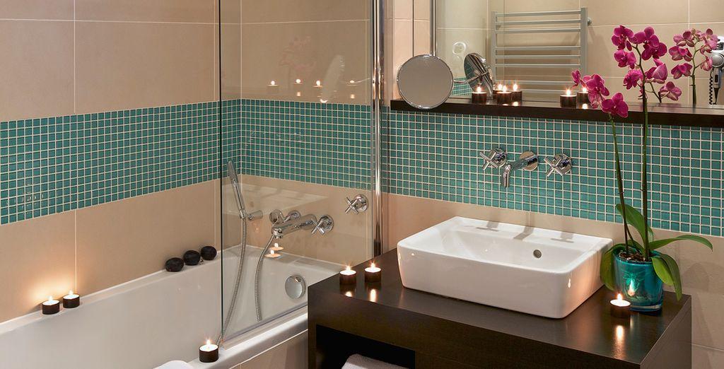 Met comfortabele badkamer