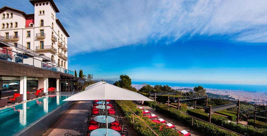 Het hotel met haar sublieme terras