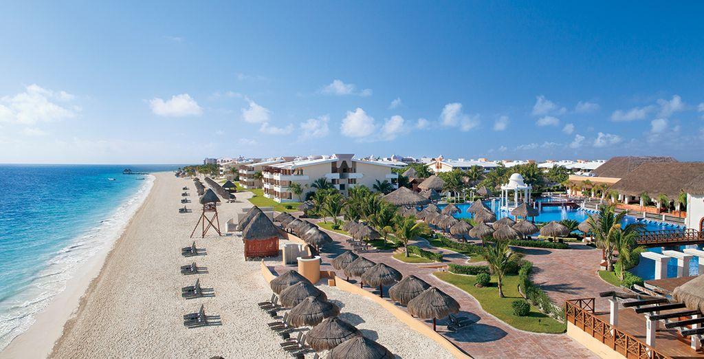 Direct gelegen aan het azuurblauwe water van Cancun