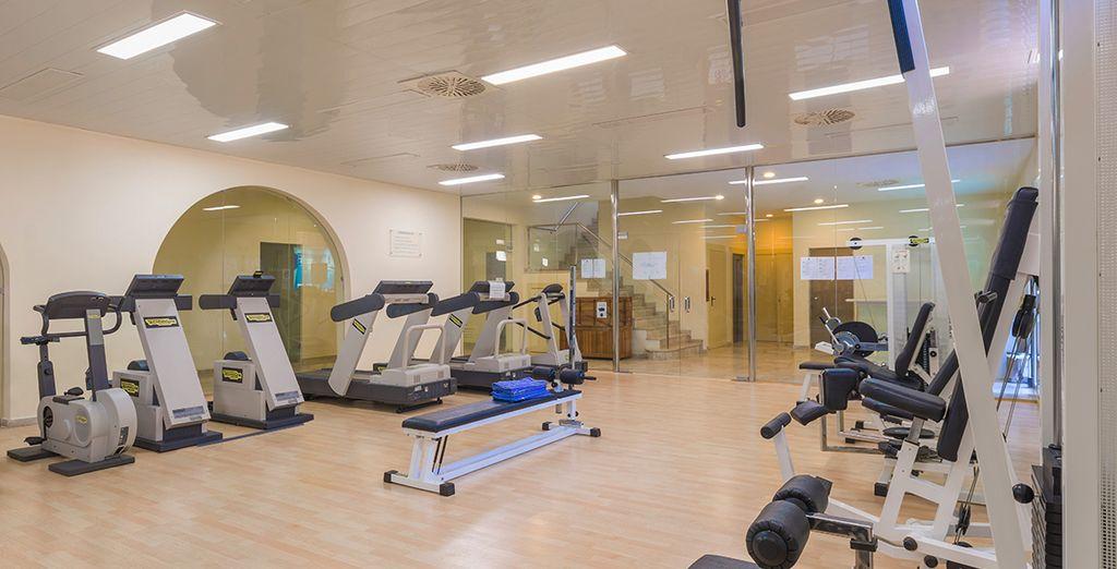 In de fitnessruimte
