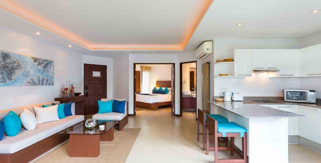 Waar u verblijft in een Dewa Suite