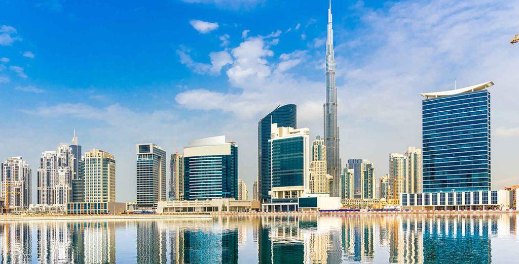 In de wereldstad Dubai
