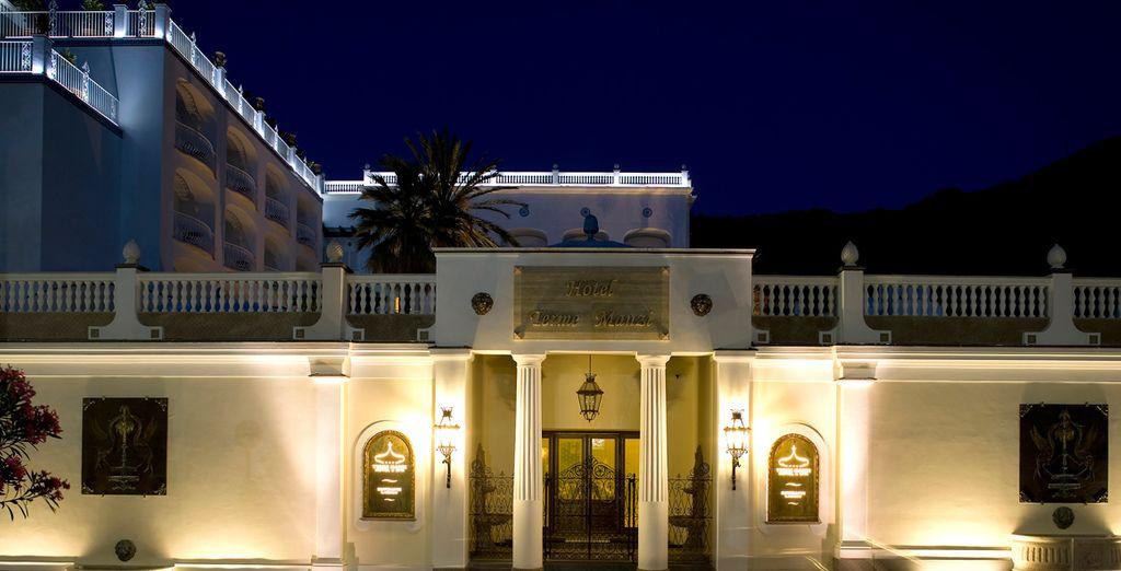 In een prachtig vormgegeven hotel