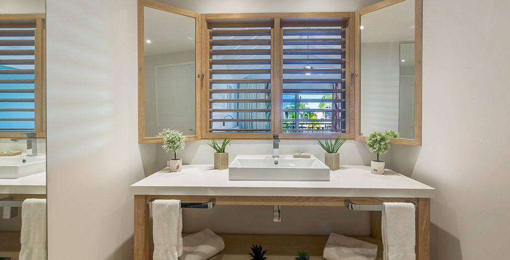 Alle kamers hebben een prachtige badkamer