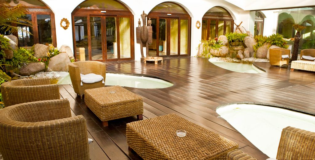 With its many areas dedicated to relaxation