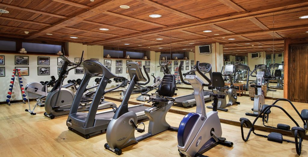 Athletes will be pleased to be able to workout in the fitness room