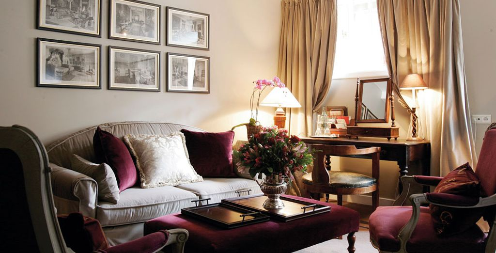 Decorated with high-end Ralph Lauren housewares and linens