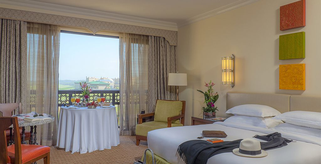 Your room is elegant and stylish with gorgeous views