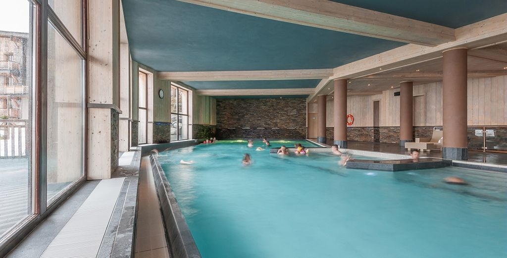 After exploring, retreat to the wellness centre