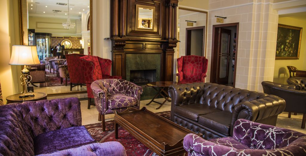 Admire the stylish furniture in the lounges