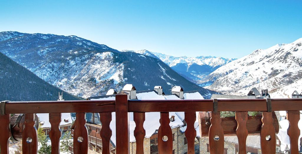 Head out for a fantastic day of skiing under the Pyrenean sunshine