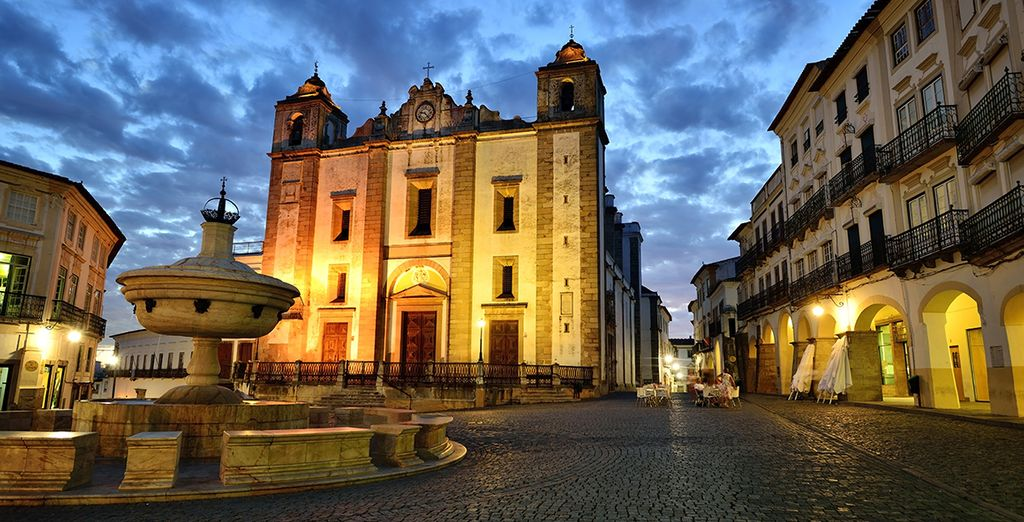 Such as the beautiful town of Evora, a UNESCO World Heritage Site