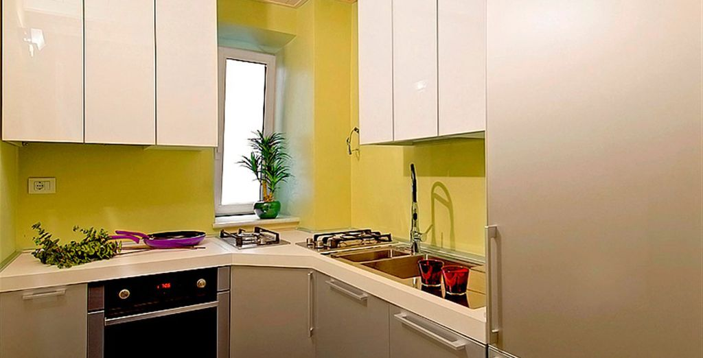Apartment 5: Well-equipped kitchen