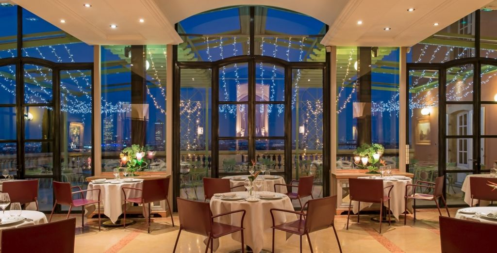To enjoy an incredible culinary experience, head to the hotel's Michelin-starred restaurant