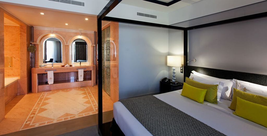 Or the stylish Deluxe Room