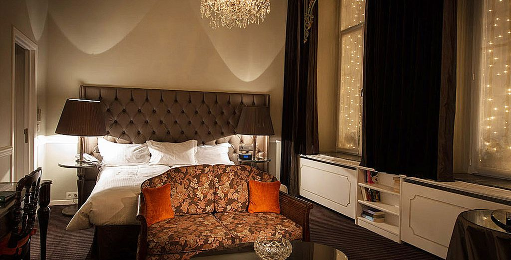 Moreover, we booked you an elegant deluxe room