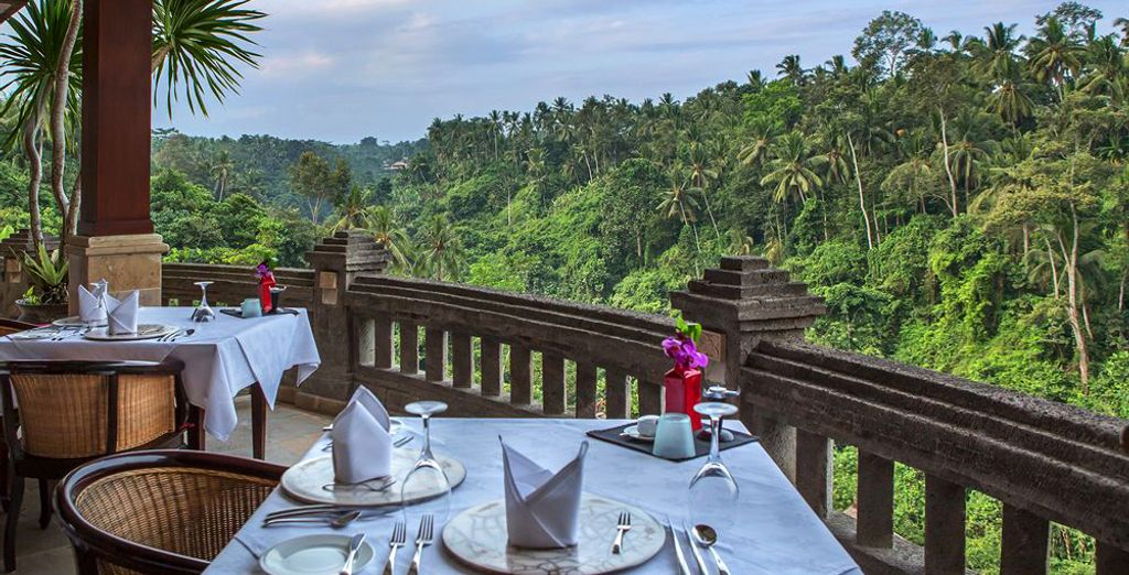 Then tantalise your tastebuds at Cascades restaurant