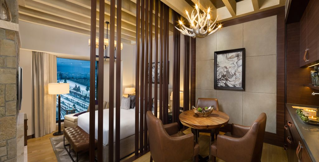 Want to hit the slopes at Ski Dubaï? Opt for an Aspen Chalet