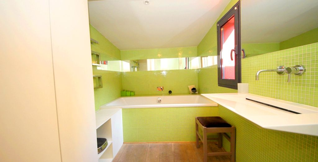 And your ensuite bathroom is fresh and modern