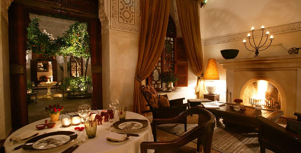 Taste the warm, spicy flavours of Marrakech with Half Board dining (daily breakfast and lunch)
