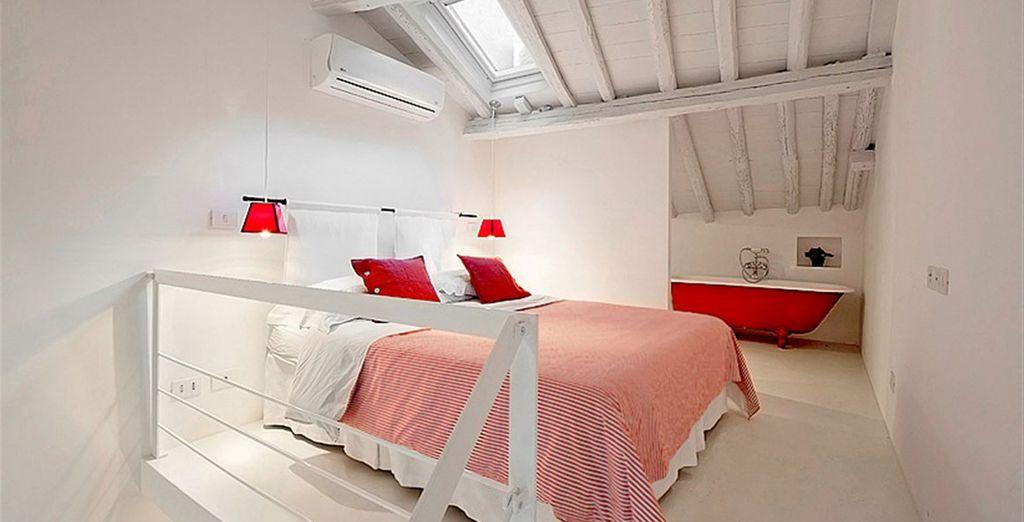 Apartment 4: With mezzanine double bedroom