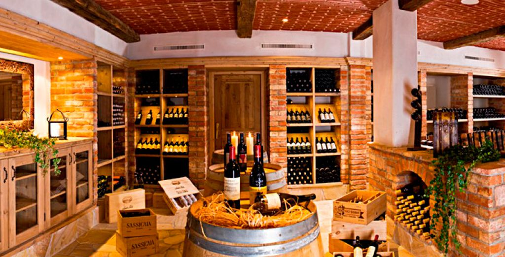 Which can be accompanied by an enviable selection of wines from around the world
