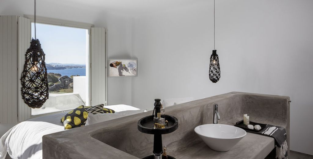 Or the Bohemian Sea View Suite with outdoor Jacuzzi