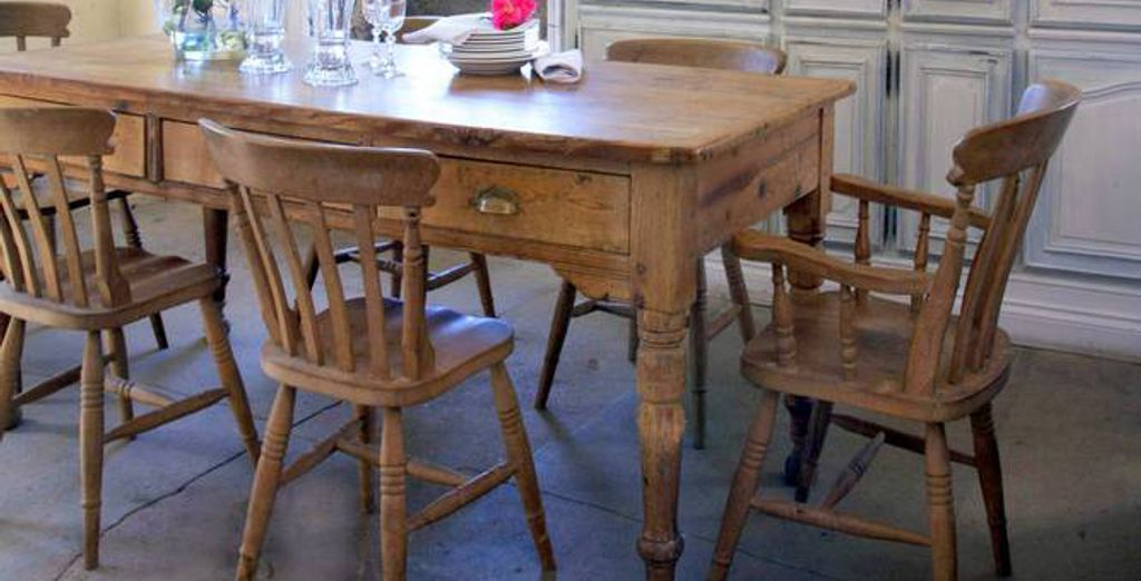 Enjoy them in the dining area with quality, wooden furniture