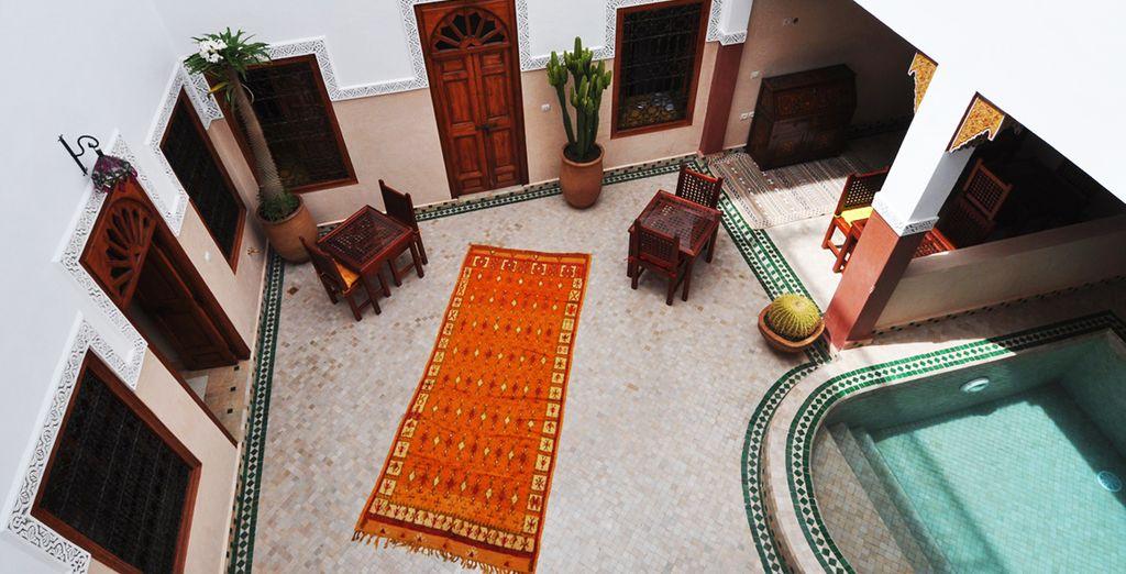 The elegant Riad welcomes you