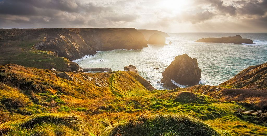 Discover rolling hills and glistening coastlines