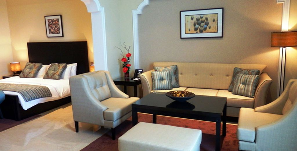 Where you can enjoy a spacious Deluxe Suite