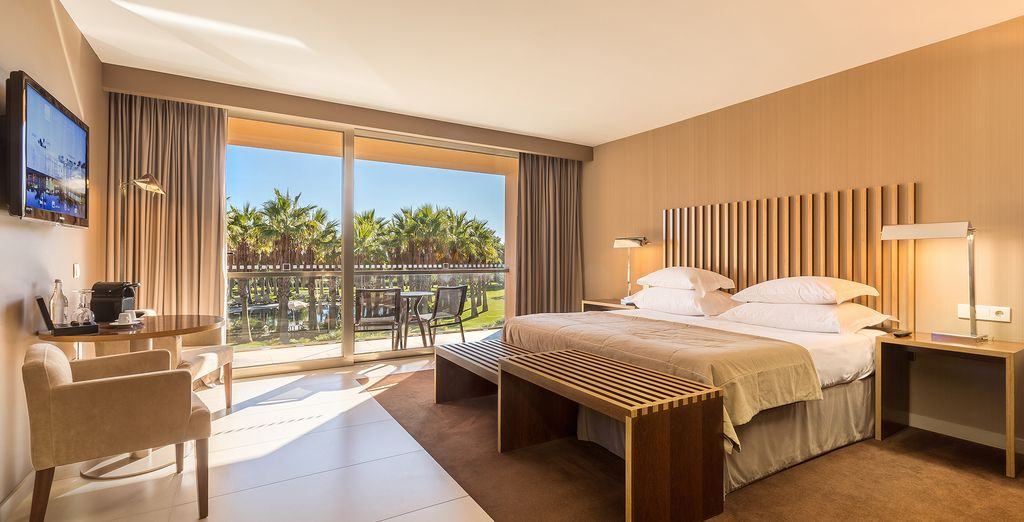 Unwind in your Double Standard Swimming Pool View Room