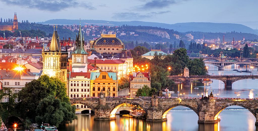 Only a stone's throw from Charles Bridge and the Old Town
