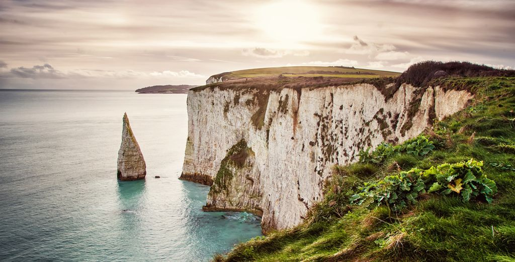 and the Old Harry Rocks on the Isle of Purbeck