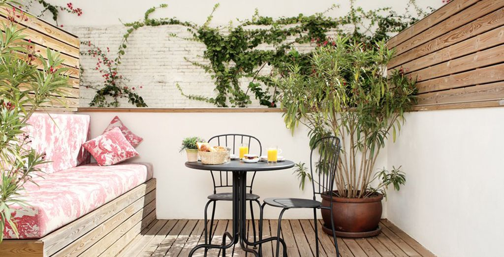 Where you can enjoy your own patio surrounded by the gardens