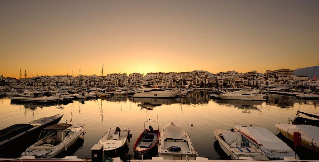 Explore Marbella's glamourous, upscale marina