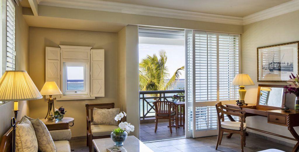 An Ocean View Room or an Ocean Front Room.