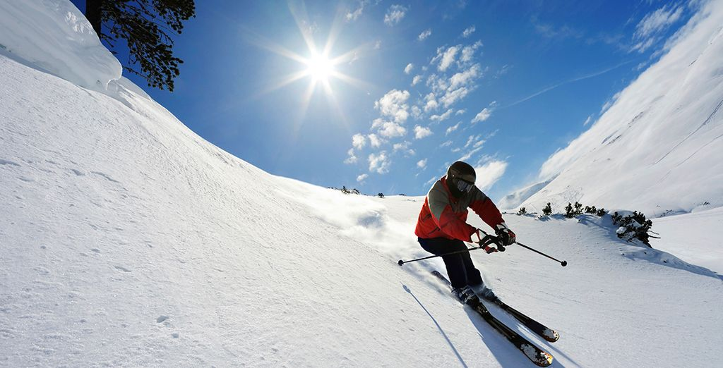 You can choose to include lessons to help you make full use of the slopes