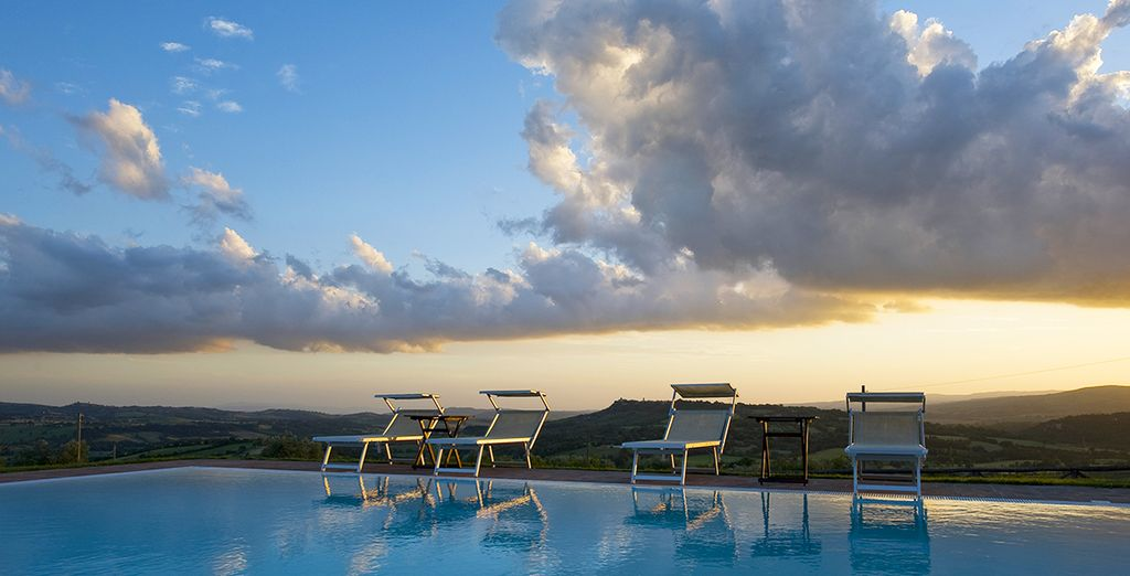 Relax on a sun lounger by the pool