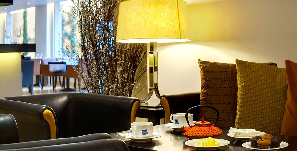 Or enjoy refreshements at the relaxed cafe