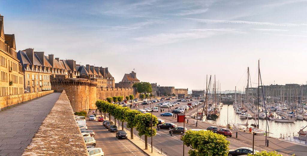 Ending in pretty port, St Malo - France