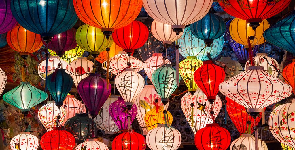 A city known for its colourful lanterns